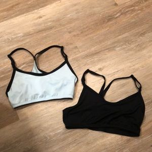 2 non-padded sports bras